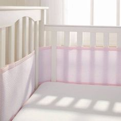 Breathable Baby Deluxe Breathable Mesh Crib Liner, Pink