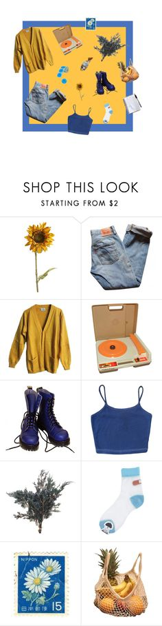 """writing of blues and yellows"" by hwinter451 ❤ liked on Polyvore featuring Pier 1 Imports, Levi's, Fisher Price and Vegetarian Shoes"