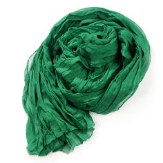 Long Crinkle Scarf Wraps Soft Shawl Stole Pure Color