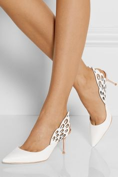 SOPHIA WEBSTER. Angelo cutout leather slingback pumps.