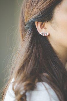 $20.00 Crown Crawler Earrings (Sterling Silver)