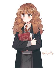 Harry Potter Hermione, Hermione Granger Drawing, Harry Potter Sketch, Harry Potter Cartoon, Cute Harry Potter, Harry Potter Icons, Harry Potter Artwork, Harry Potter Drawings, Harry Potter Pictures