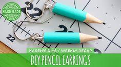 DIY Pencil Earrings - HGTV Handmade