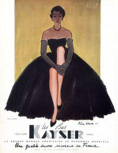 Kayser hosiery advertisement, 1953