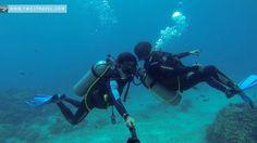 Scuba diving at Angol Point, Boracay