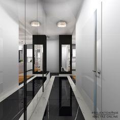 Przedpokój glamur w różnych wariantach kolorystycznych Divider, Room, Furniture, Home Decor, Glamour, Bedroom, Decoration Home, Room Decor, Rooms