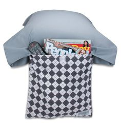 This is a Pillow Pocket Pal, and would be a great item, especially for kids! They can store their flashlight and book in there for their bedtime stories!