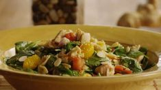 Mandarin Chicken Pasta Salad Allrecipes.com... make it gf by switching out the bow tie pasta for gf pasta.