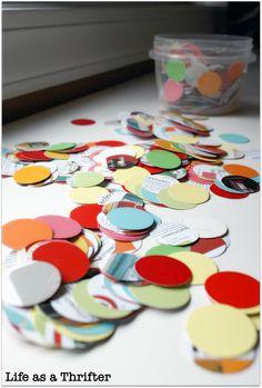 Life as a Thrifter: Paint Chip Garland