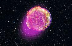 Tycho's supernova - Origins of Most Powerful Exploding Stars     CREDIT: Gamma ray, NASA/DOE/Fermi LAT Collaboration; X-ray, NASA/CXC/SAO; Infrared, NASA/JPL-Caltech; Optical, MPIA, Calar Alto, O. Krause et al. and DSS