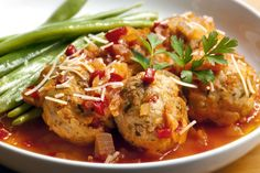 Light Meatball Recipe: Chicken & Bell Pepper Baked Meatballs