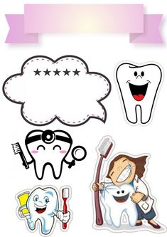 Dental Pictures, Banks Icon, Cake Toppers, Embellishments, Little Girls, Diy And Crafts, Stencils, Clip Art, Rainbow