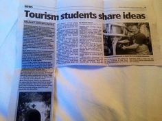 Press coverage of a week long field trip by our students to the island of Jersey.  Students undertook research and presented recommendations to local tourism professionals.