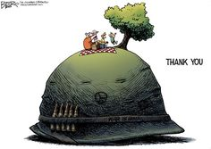 Nate Beeler - The Columbus Dispatch - Memorial Day - thank you, veterans, helmet, war, military, family, united states, usa, america