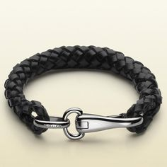 Leather Bracelet with Clasp, Gucci