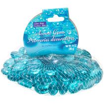 Crafters Square Ocean Blue Glass Accent Gems, 14-oz. Bags