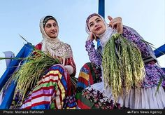Gilaki Women from Masouleh Village in traditional Costumes.
