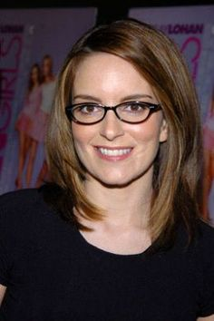 Tina Fey: Creator of 30 Rock, Mean Girls, writer on Saturday Night Live. Tina Fey, Eyeglasses For Round Face, My Hairstyle, Little Girl Hairstyles, Mean Girls, Celebs, Celebrities, Powerful Women, Face Shapes