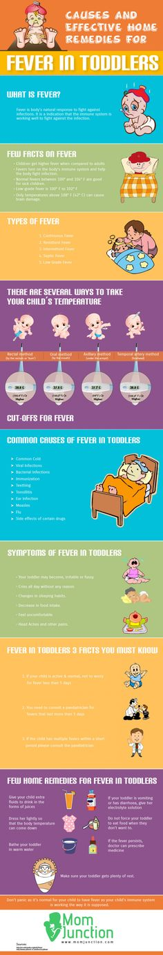 Effective Home Remedies For Fever In Toddlers Infographic