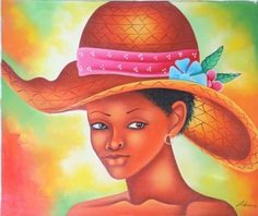http://www.artsumo.com/Haiti/The-Look-in-Her-Eyes    This painting vibrantly depicts the look in a beautiful Haitian woman's eyes as she becomes enwrapped in an object of her attraction.