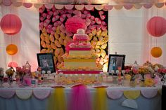 A Cake display for a sweet 16th party :-)