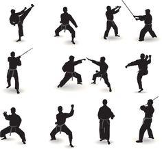 Vectores libres de derechos: Well known martial arts