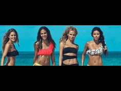 Doutzen Kroes, Adriana Lima, Joan Smalls, Natasha Poly for H&M commercial SUMMER STARTS NOW Axwell and Ingrosso