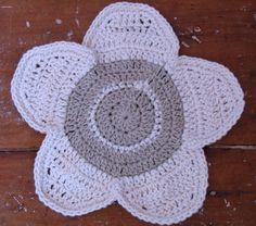 Flower crochet wash cloth