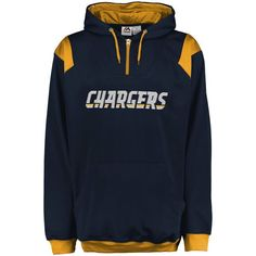 Los Angeles Chargers Majestic Big & Tall 1/4-Zip Pullover Hoodie - Navy - $69.99