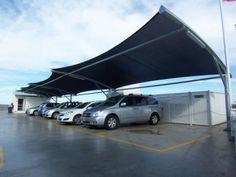 pics of shade sail carpark shade structures - Google Search