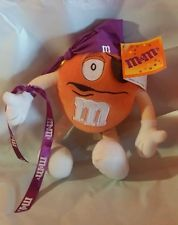 Orange M & M's Halloween Toy Plush Collectible Pirate Costume Hang Tags 2002
