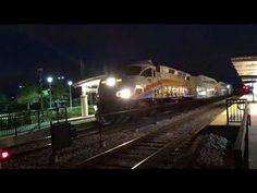 Northbound Orlando SunRail Train Departing Sand Lake Rd Station