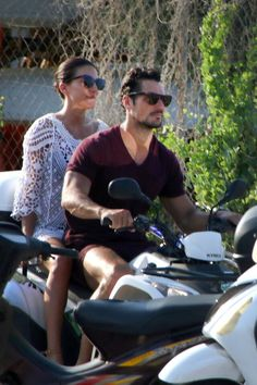 David Gandy and Stephanie holiday in Greece. || Aug.2016