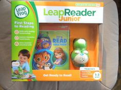 LeapFrog LeapReader Junior Green NEW with Tag Junior Books Scout Ages 1-3 #LeapFrog