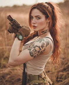Revolver, Airsoft, Female Action Poses, American Staffordshire Terrier Puppies, Gunslinger Girl, Pretty Redhead, Ted, Outdoor Girls, Hot Tattoo Girls