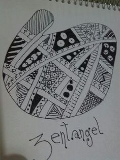 Zentangle realizado por Angel Rivera