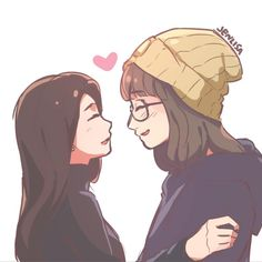 Jennie and Lisa in different Universes (One shot book) Enjoy 😉 Fanfiction Anime Girlxgirl, Yuri Anime, Cute Anime Chibi, Cute Lesbian Couples, Lesbian Art, Gay Art, Anime Couples, Couple Poses Drawing, Couple Drawings