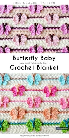 Flower stitch is one of the most vast type of stitch in the crochet world. But, this rose stitch crochet is one of the most beautiful I have ever seen. Crochet Puff Flower, Crochet Butterfly, Butterfly Baby, Crochet Flower Patterns, Crochet Flowers, Knitting Patterns, Crochet Stars, Stitch Crochet, Crochet Stitches