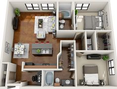 The Home Decor Guru – Interior Design For Bedrooms Sims 4 House Plans, House Layout Plans, Tiny House Plans, House Layouts, House Floor Plans, Sims House Design, Modern House Design, Apartment Floor Plans, Apartment Layout