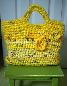 yellow bag by osnat.ganor, via Flickr  Now I know what to do with all of that caution tape!