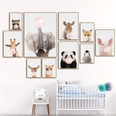 877dbd9a829f Kids Animals Bubble Gum Girls Boys Gifts Wall Art Canvas Decorative  Pictures Poster Print Wall Art