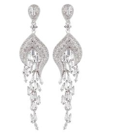 2019 New Style Wedding Cz Cubic Zirconia Star Teardrop Crystal Stud Earrings Bridal & Wedding Party Jewelry Engagement & Wedding