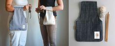 Sac tricot (fabriqué au Québec) / Knitting bags (made locally)