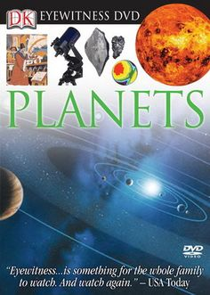 """Which planet would float in your bathtub if you had one big enough? What is the fire-and-brimstone world of Venus really like?  The Eyewitness Planets DVD journeys through space and time, witnessing the birth of the sun and traveling to the outer limits of the solar system. DVD runs 35 minutes. Also includes a special """"Making of Eyewitness"""" feature that runs 25 minutes."""
