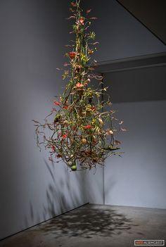 Pin on Fiori Deco Floral, Arte Floral, Floral Design, Ikebana, Contemporary Flower Arrangements, White Flower Arrangements, Hanging Flowers, Paper Flowers, Flower Installation