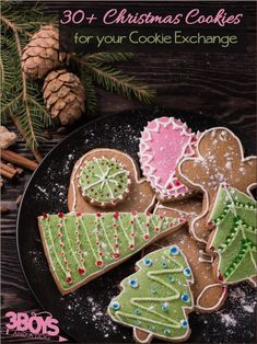 It is almost Christmas time and that means it is time for some cookie exchanges! To help you come up with a fun and unique cookie recipe for your annual exchange, I have compiled over 30 of the best…More Easy Christmas Cookie Recipes, Christmas Cookie Exchange, Best Cookie Recipes, Christmas Cookies, Homemade Cookies, Yummy Cookies, Brownies, Dessert Recipes, Desserts
