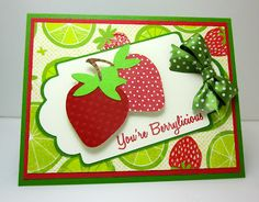 You're Berry-licious Card! Made using the Cricut Preserves Cartridge by Joy Tracey #Cricut