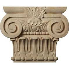 Ekena Millwork Bradford x Cherry Unfinished Capital Entry Door Casing Accent (Actual: x at Lowe's. Modeled after original historical patterns and designs, our carved wood capitals are beautiful accents to your complete mill work trim. Our wood capitals Door Casing, Unfinished Wood, Fireplace Mantels, Bradford, Real Wood, Hand Carved, Carved Wood, Entry Doors, Wood Species