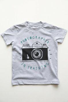 Photographer in Training Kids Boy Tee