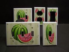 WATERMELON FRUIT KITCHEN DECOR SO PRETTY LIGHT SWITCH OR OUTLET COVER V468